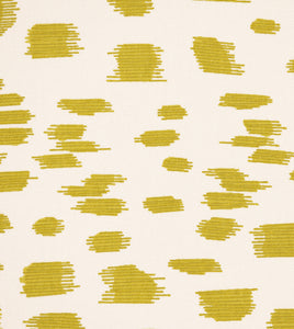 "Citron Log Cabin Abstract Euro Sham With Welt 27""x27"""