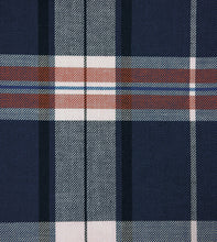 "Scout Navy Blue Lodge Plaid Cotton Standard Sham Self Flange 20""x27"""