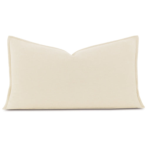Brera Flannel Ivory Mountain Resort Solid King Sham Self Flange 21