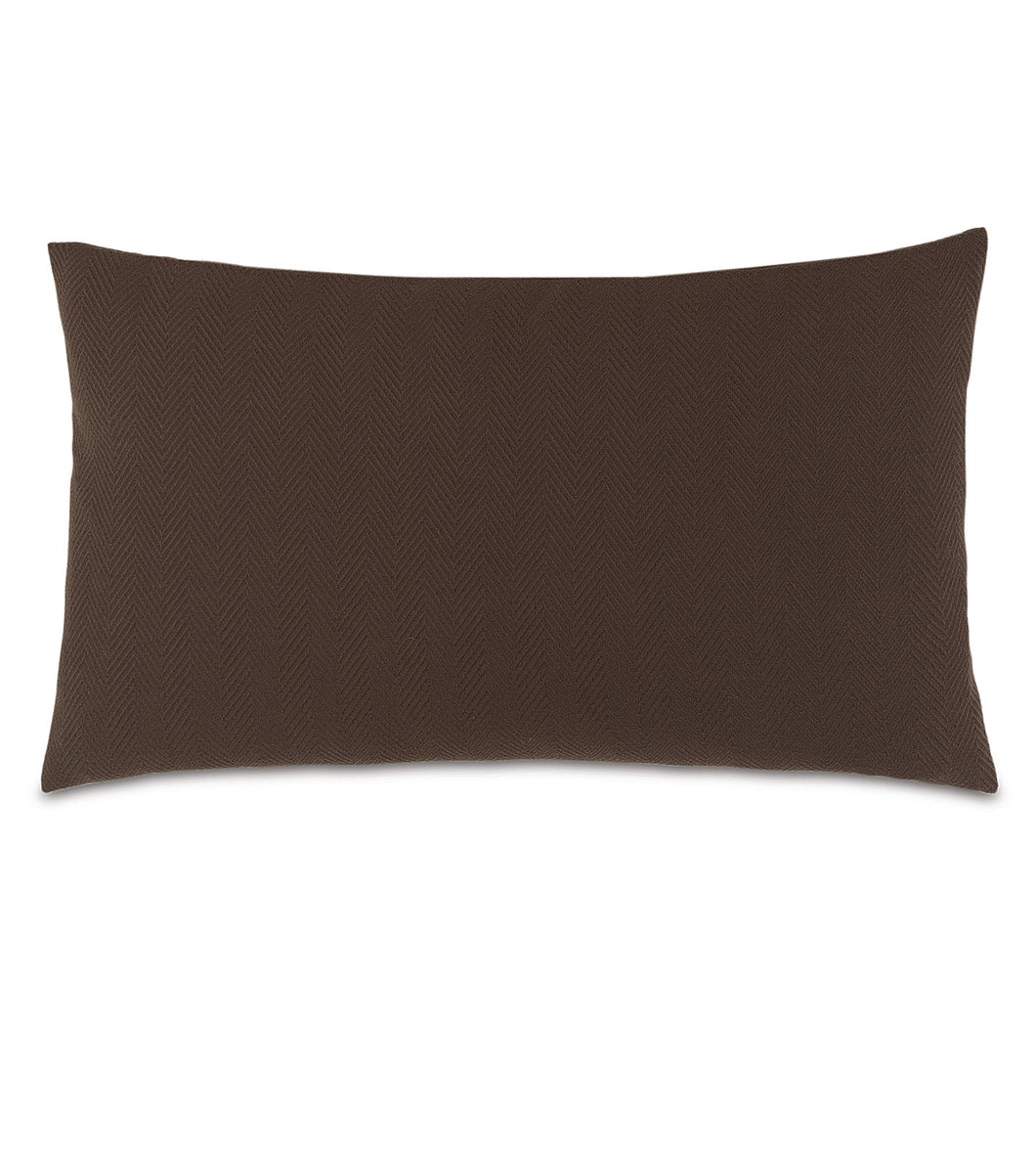 Chalet Alpine Russet Solid Brown Lodge King Sham Knife Edge 21