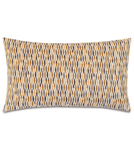 "Mustard Fall Geometric Rustic Cabin Cotton King Sham Knife Edge 21""x37"""