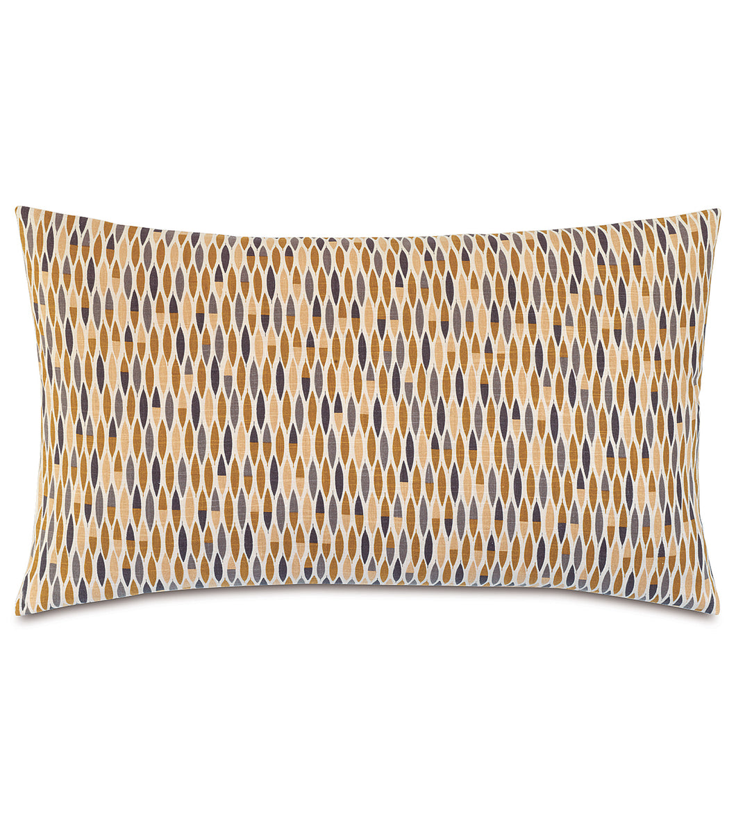 Mustard Fall Geometric Rustic Cabin Cotton King Sham Knife Edge 21