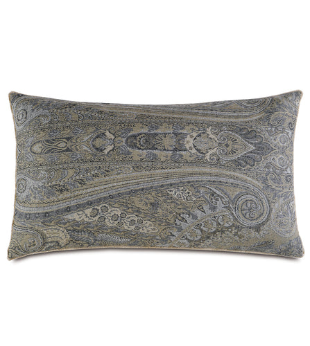 Reign Brush Fringe Paisley King Sham in Gray 21