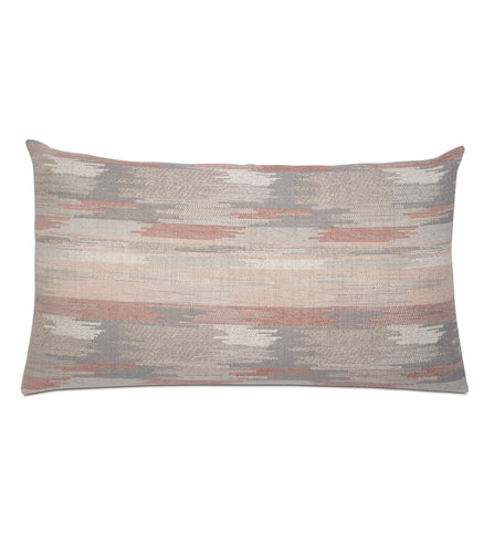 Salmon Lodge Abstract Tribal Jacquard King Sham Knife Edge 21