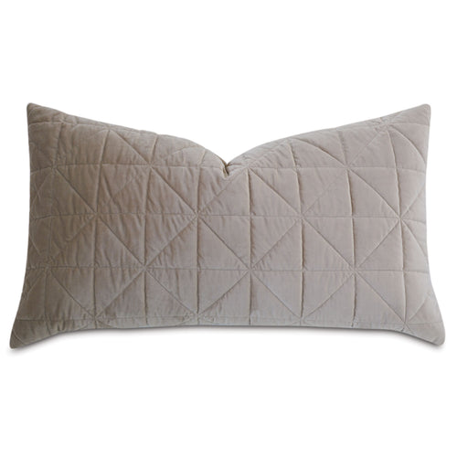 Taupe Geometric Washable Velvet King Sham 21