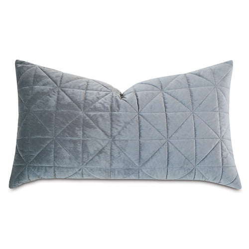 Gray Geometric Washable Velvet King Sham 21