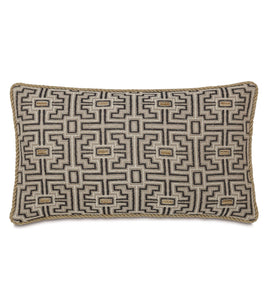 "Tribal Mountain Lodge Lumbar Pillow With Cord 15""x26"""
