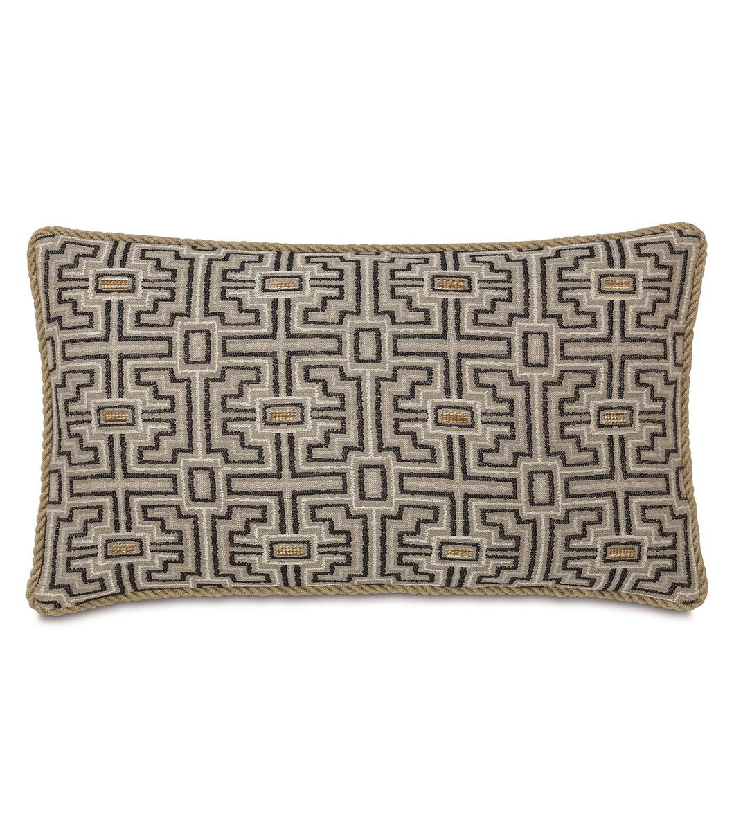 Tribal Mountain Lodge Lumbar Pillow With Cord 15