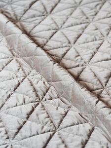 Taupe Geometric Lodge Washable Velvet Coverlet