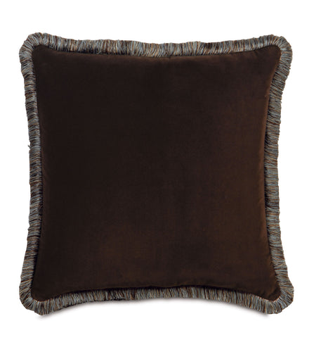 Powell Velvet Brush Fringe Euro Sham in Brown 27