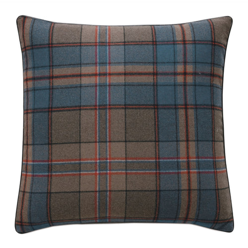 Rudy Blue Wool Mountain Lodge Decorative Throw Pillow 22