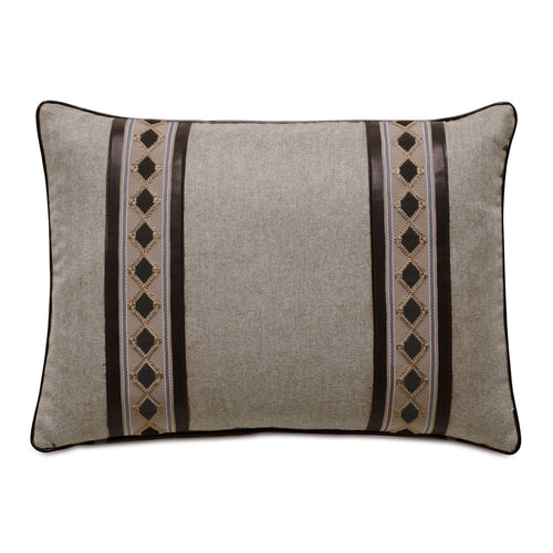 Rudy Beige Mountain Lodge Decorative Throw Pillow 16