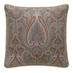 "Rudy Rust Paisley Mountain Lodge Decorative Throw Pillow 22""x22"""