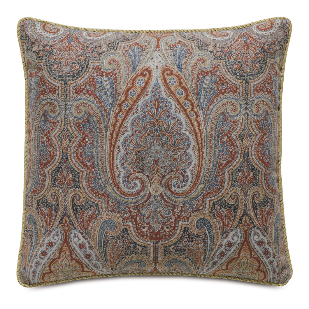 Rudy Rust Paisley Mountain Lodge Decorative Throw Pillow 22