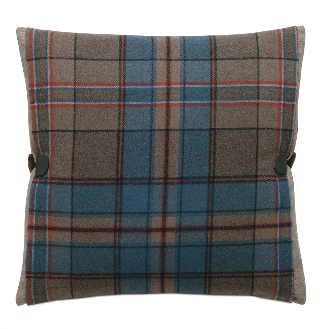 Rudy Blue Wool Mountain Lodge Decorative Throw Pillow 20