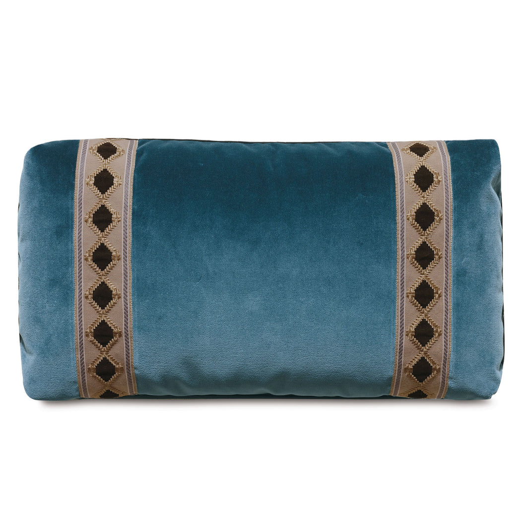 Rudy Blue Velvet Mountain Lodge Lumbar Throw Pillow 13