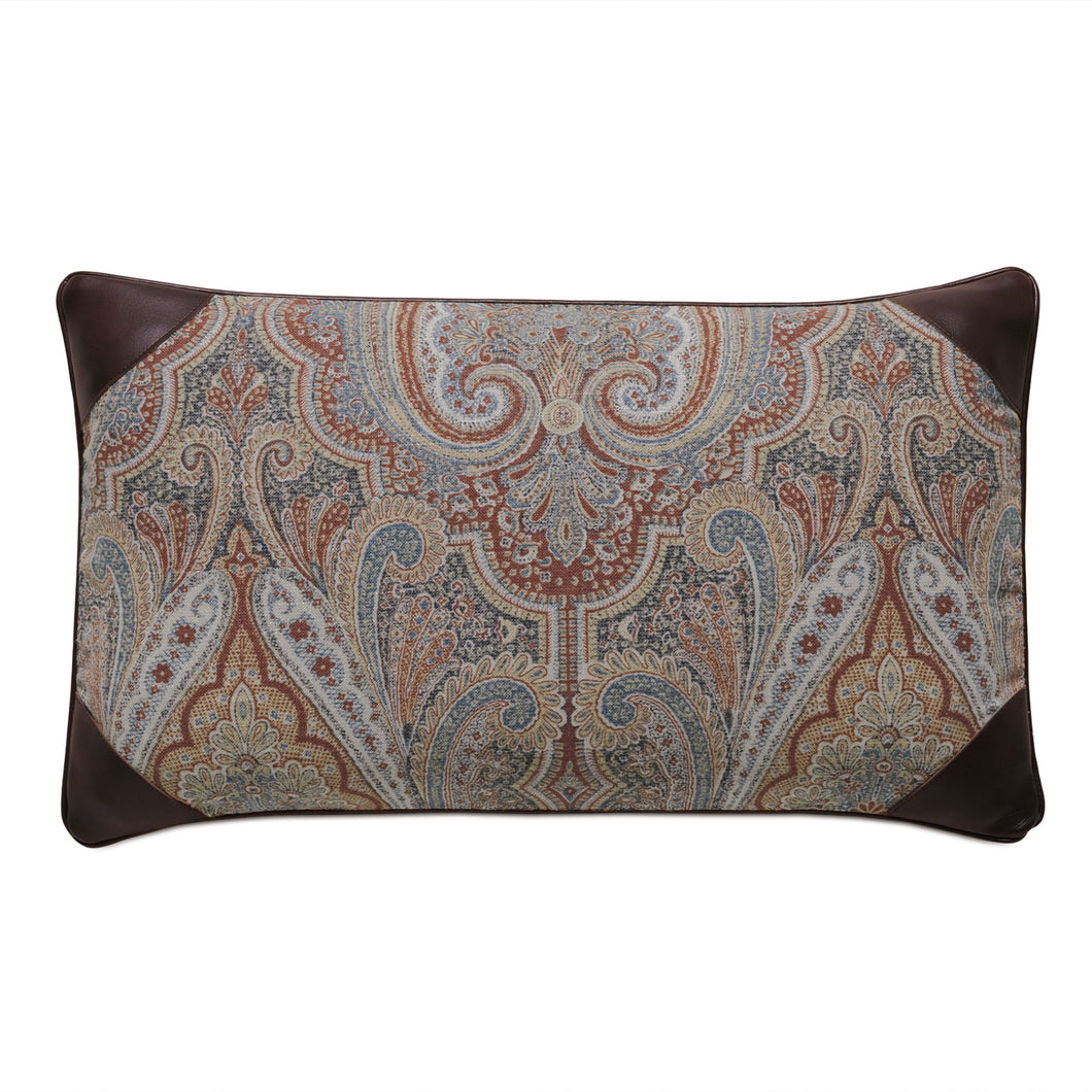 Rudy Rust Paisley Mountain Lodge Lumbar Throw Pillow 13