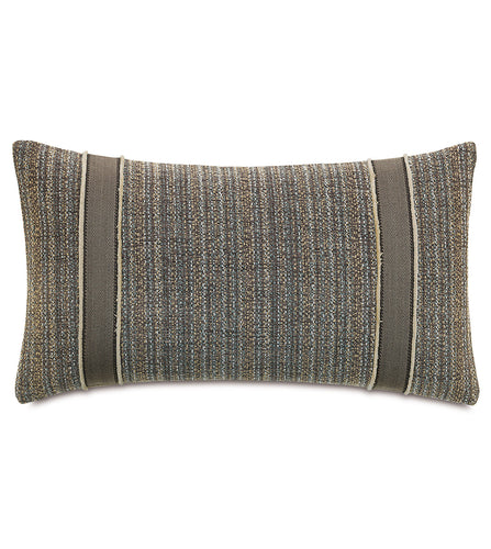 Reign Applique Knife Edge Accent Pillow in Gray 15