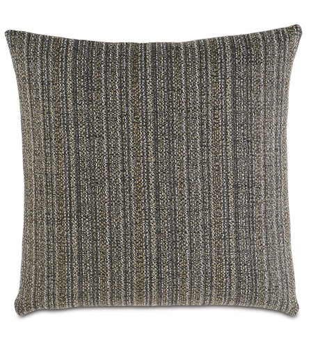Reign Stripe Textured Knife Edge Accent Pillow in Gray 22