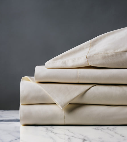 Roma Luxe Ecru Luxury Fine Linen Sheet Set