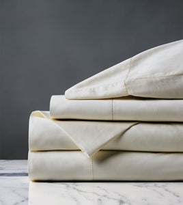 Roma Luxe Ivory Luxury Fine Linen Sheet Set