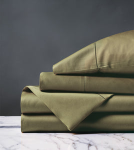 Roma Classic Oliva Luxury Fine Linen Sheet Set