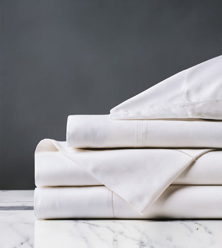 Roma Classic White Luxury Fine Linen Sheet Set