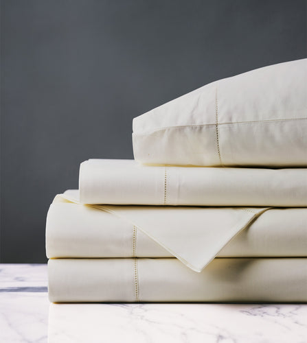Gianna Classic Ivory Luxury Fine Linen Sheet Set