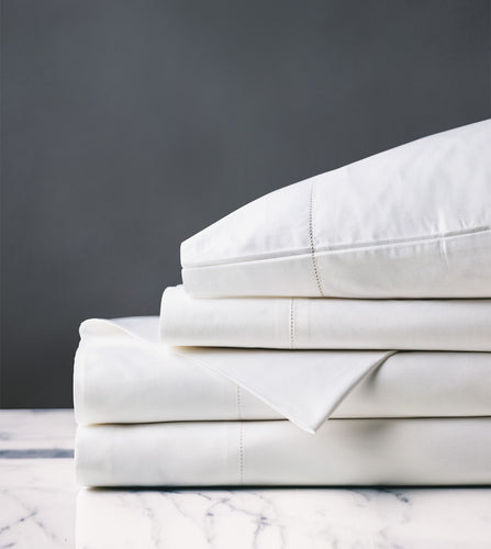 Gianna Classic White Luxury Fine Linen Sheet Set