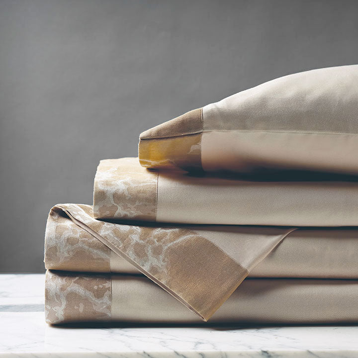 Lagos Sand Luxury Fine Linen Sheet Set