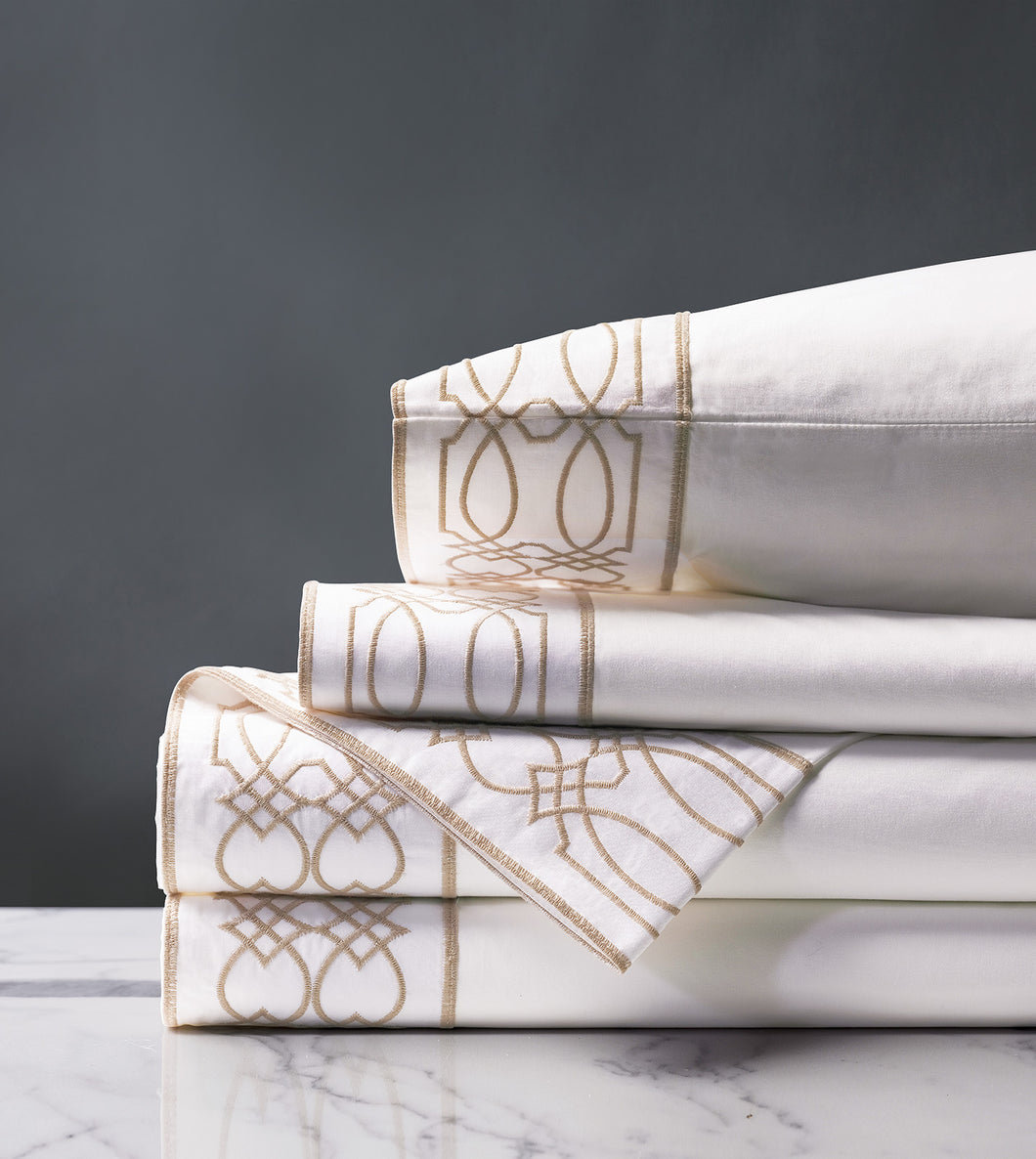 Nicola Wheat Luxury Fine Linen Sheet Set