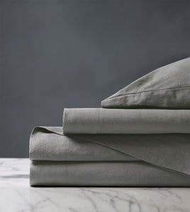 Shiloh Cement Luxury Fine Linen Sheet Set