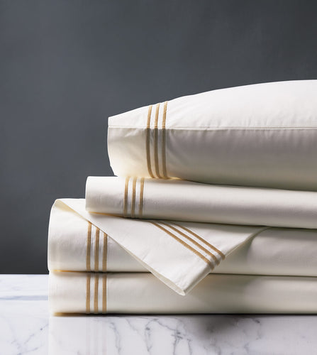Tessa Ivory/Antique Luxury Fine Linen Sheet Set