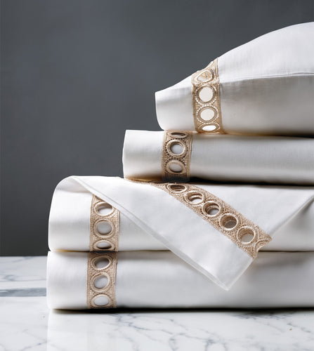 Celine Champagne Luxury Fine Linen Sheet Set