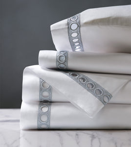 Celine Silver Luxury Fine Linen Sheet Set