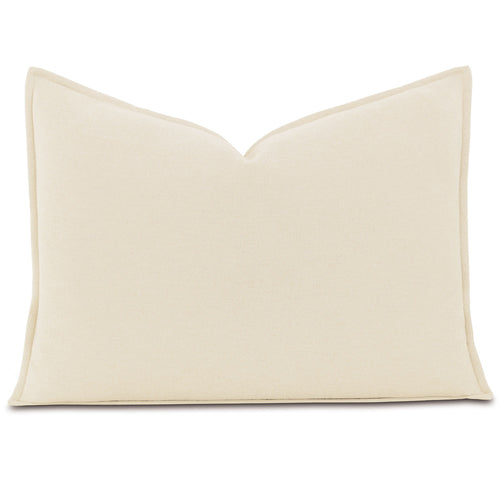 Brera Flannel Ivory Mountain Resort Solid Standard Sham Self Flange 20