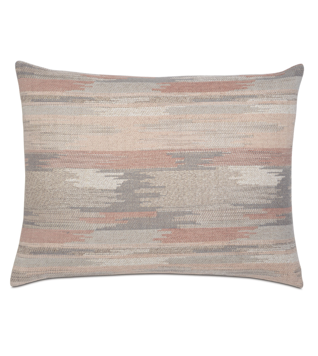 Salmon Lodge Abstract Tribal Jacquard Standard Sham Knife Edge 20