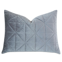 "Gray Geometric Washable Velvet Standard Sham 20""x27"""