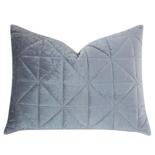 Gray Geometric Washable Velvet Standard Sham 20