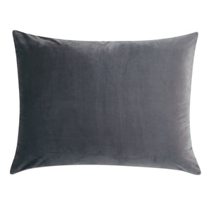 "Dark Gray Geometric Washable Velvet Standard Sham 20""x27"""