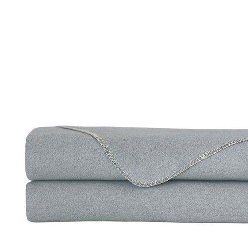 Sconset Gray Solid Flannel 100% Cotton Blanket