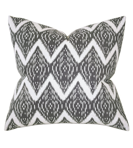 Gray Mountain Tribal Cotton Throw Pillow Knife Edge 22