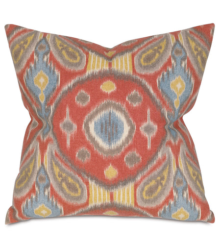 Red Paladino Tribal Mountain Lodge Throw Pillow Knife Edge 22