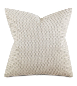 "Neutral Contemporary Rustic Textured Decorative Pillow 24""x24"""
