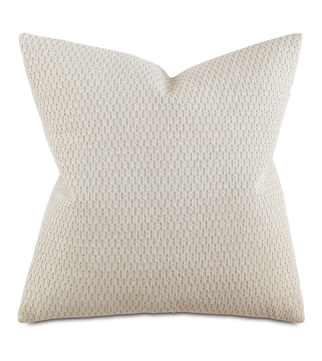 Neutral Contemporary Rustic Textured Decorative Pillow 24