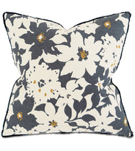 "Gray Mountain Floral Botanical Throw Pillow With Brush Fringe 20""x20"""