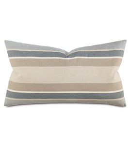 "Wainscott Buff Striped King Sham  21""x37"""