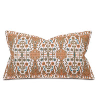 "Orange Teal Mountain Tribal King Sham Self Flange 21""x37"""