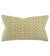 "Yellow Mountain Resort Geometric Cotton King Sham With Welt 21""x37"""