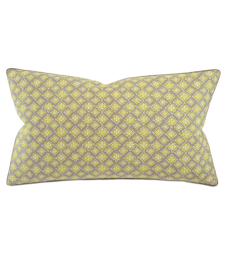 Yellow Mountain Resort Geometric Cotton King Sham With Welt 21